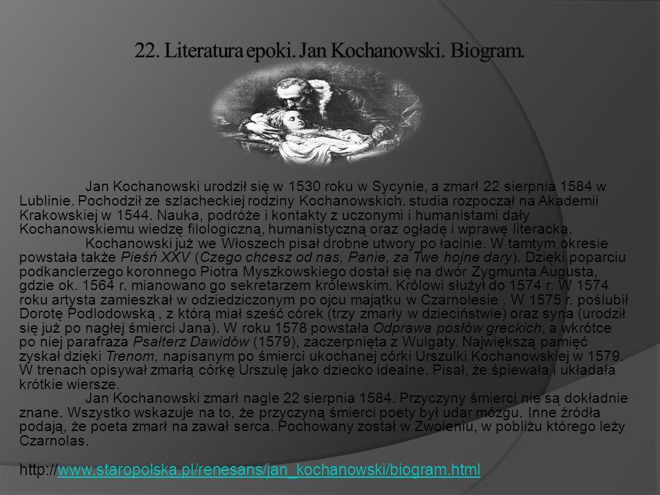21. Literatura epoki. Mikołaj Rej.