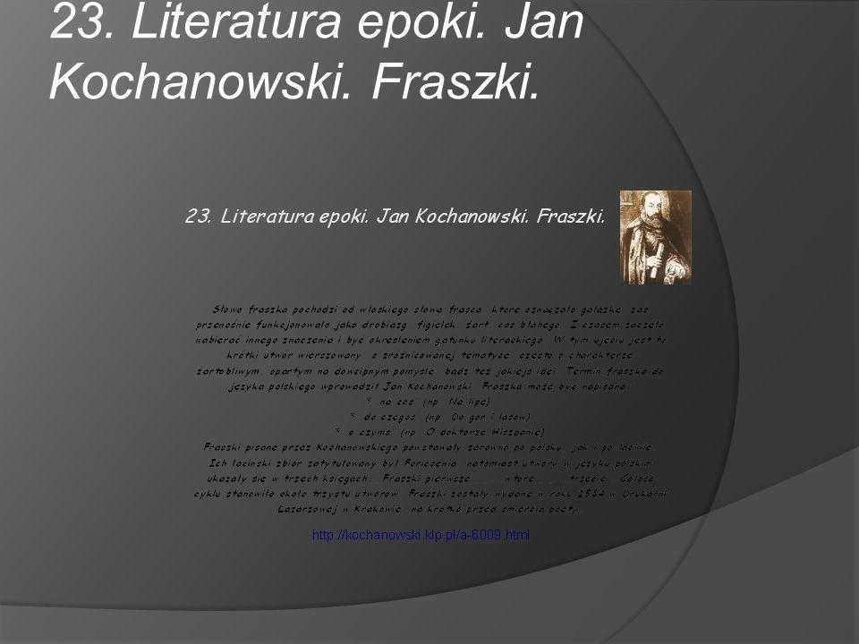 Jan Kochanowski urodził się w 1530 roku w Sycynie, a zmarł 22 sierpnia 1584 w Lublinie.