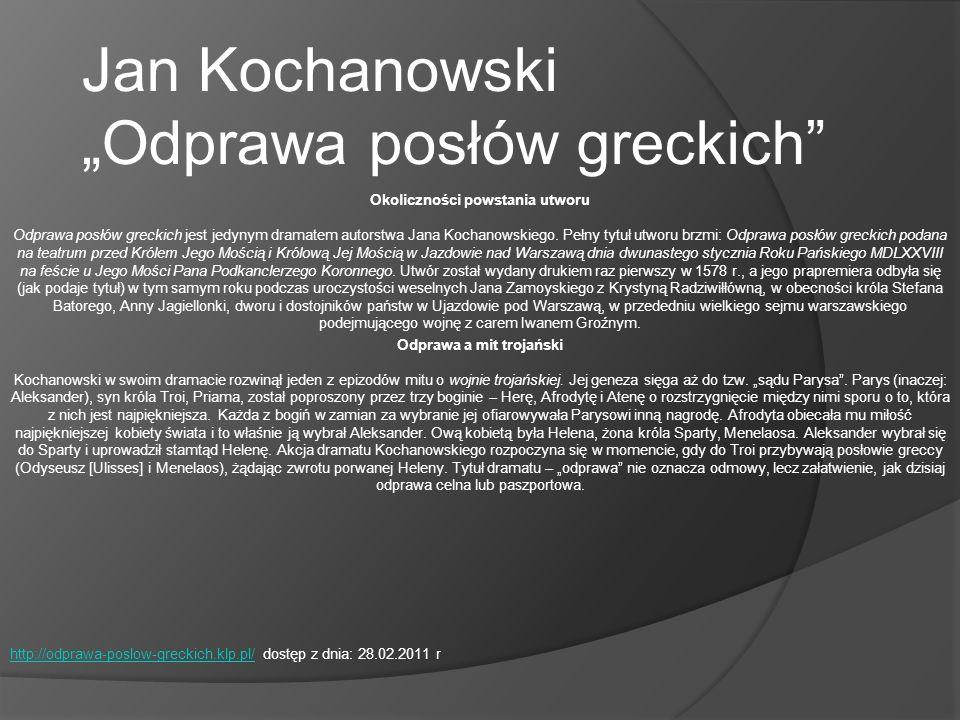 ANNA PAWLI K Nr 25 Jan Kochanowski – Pieśni PIEŚŃ (łac.