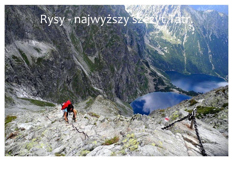 Rysy - najwyższy szczyt Tatr.