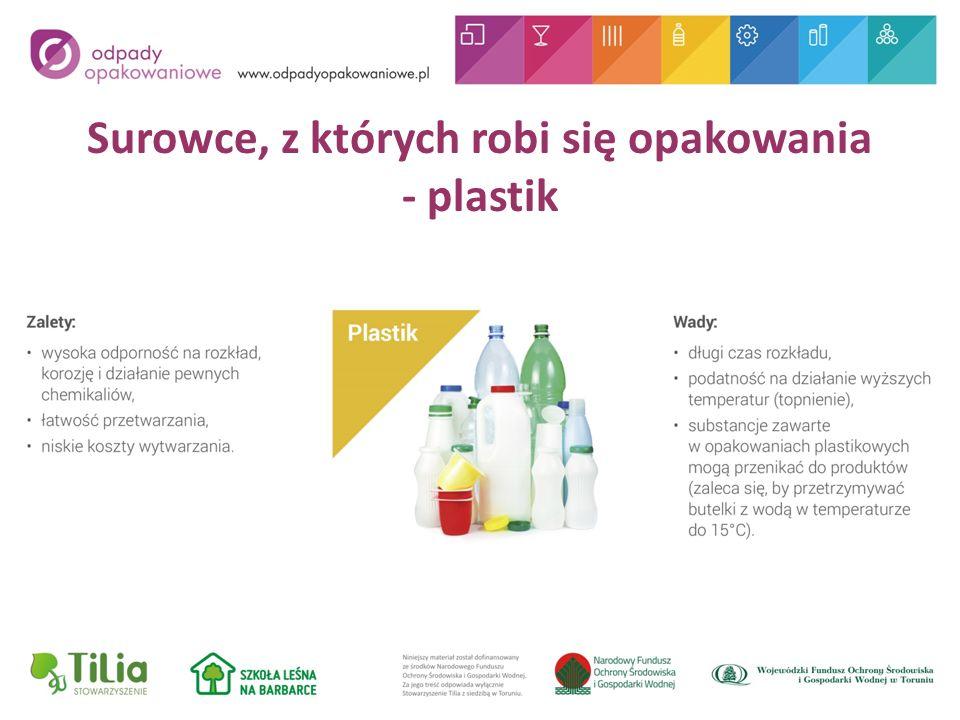 Surowce, z których robi się opakowania - plastik