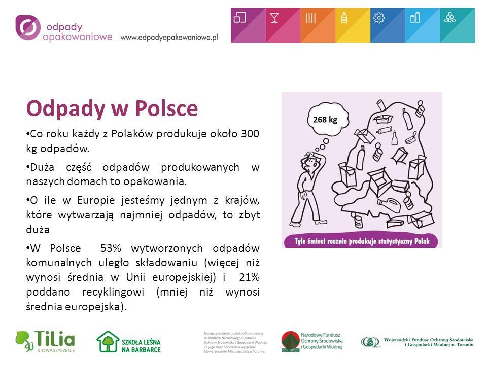 Odpady w Polsce Co roku każdy z Polaków produkuje około 300 kg odpadów.