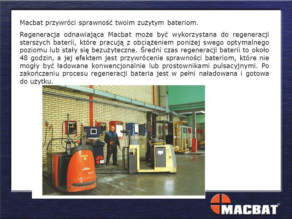 Macbat przywróci sprawność twoim zużytym bateriom. Regeneracja odnawiająca Macbat może być wykorzystana do regeneracji starszych baterii, które pracuj