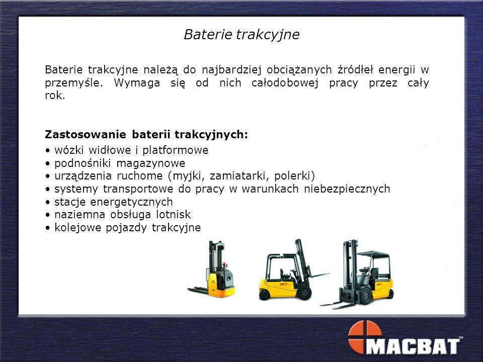 Baterie trakcyjne należą do najbardziej obciążanych źródłeł energii w przemyśle. Wymaga się od nich całodobowej pracy przez cały rok. Zastosowanie bat