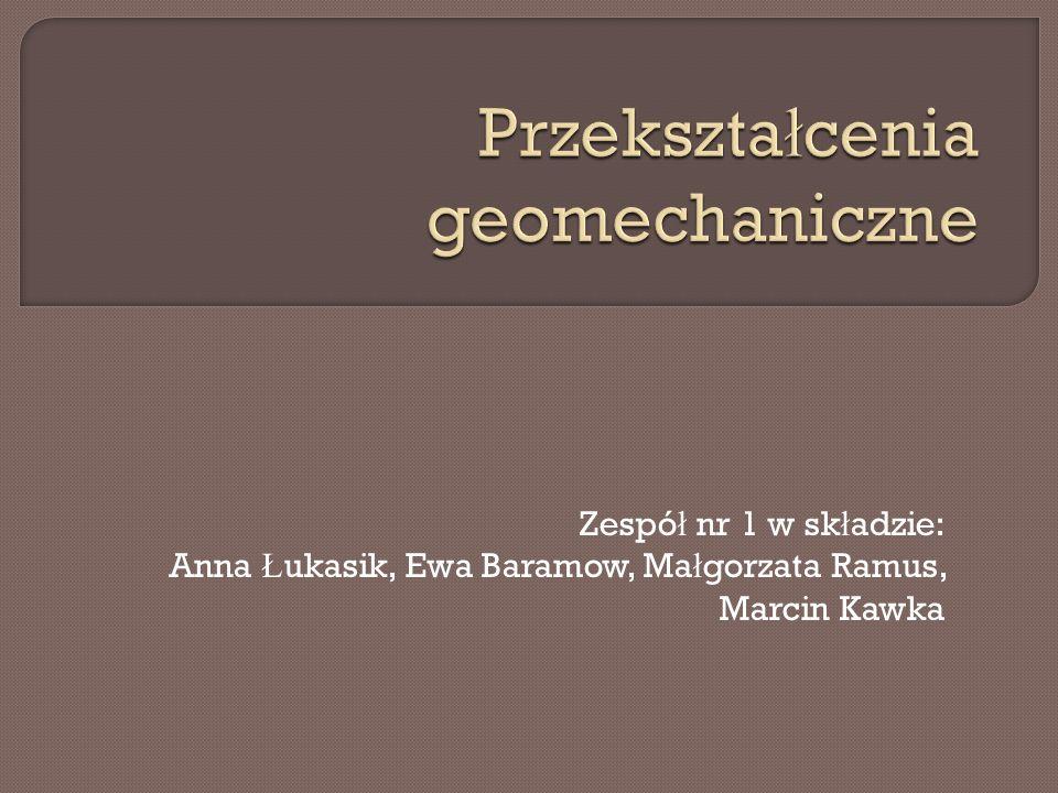 Zespó ł nr 1 w sk ł adzie: Anna Ł ukasik, Ewa Baramow, Ma ł gorzata Ramus, Marcin Kawka