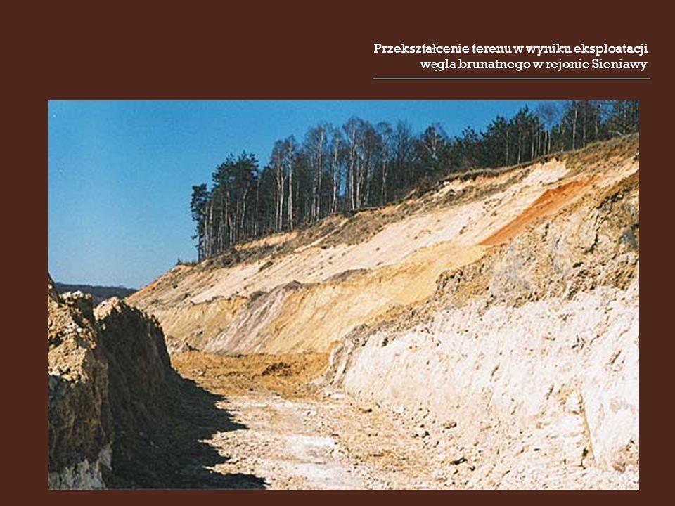 Przekszta ł cenie terenu w wyniku eksploatacji w ę gla brunatnego w rejonie Sieniawy