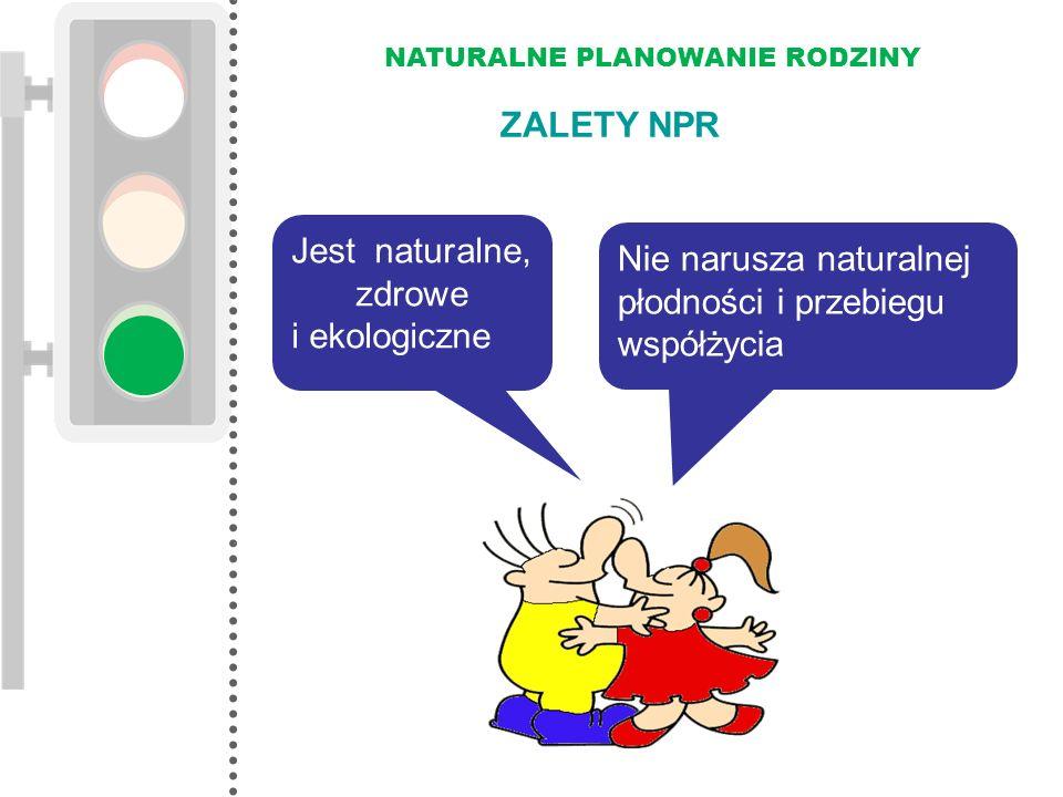 NATURALNE PLANOWANIE RODZINY Nie narusza naturalnej płodności i przebiegu współżycia Jest naturalne, zdrowe i ekologiczne ZALETY NPR