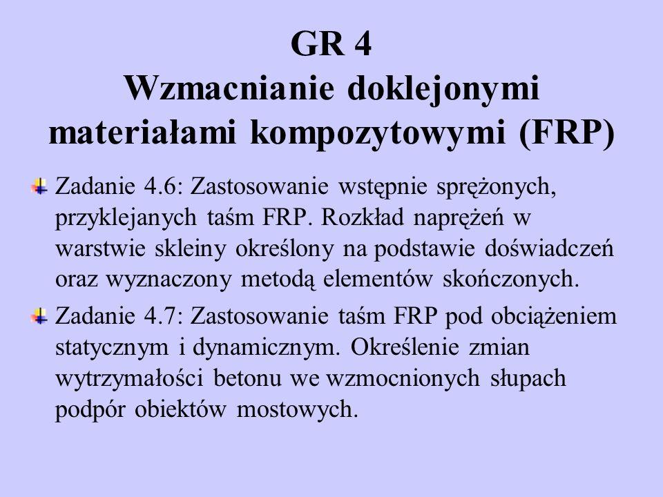 Zadanie 4.6: Zastosowanie wstępnie sprężonych, przyklejanych taśm FRP.