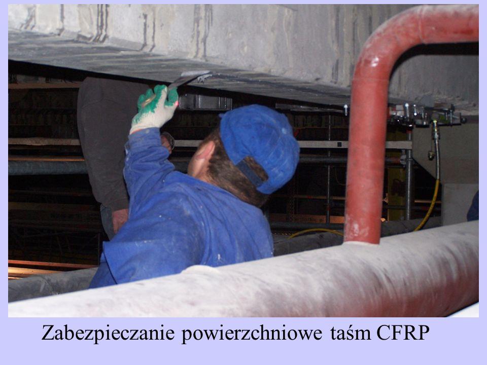 Zabezpieczanie powierzchniowe taśm CFRP
