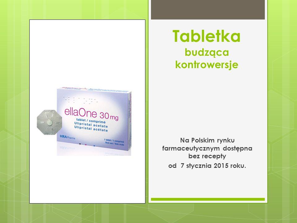 Tabletka budząca kontrowersje Na Polskim rynku farmaceutycznym dostępna bez recepty od 7 stycznia 2015 roku.