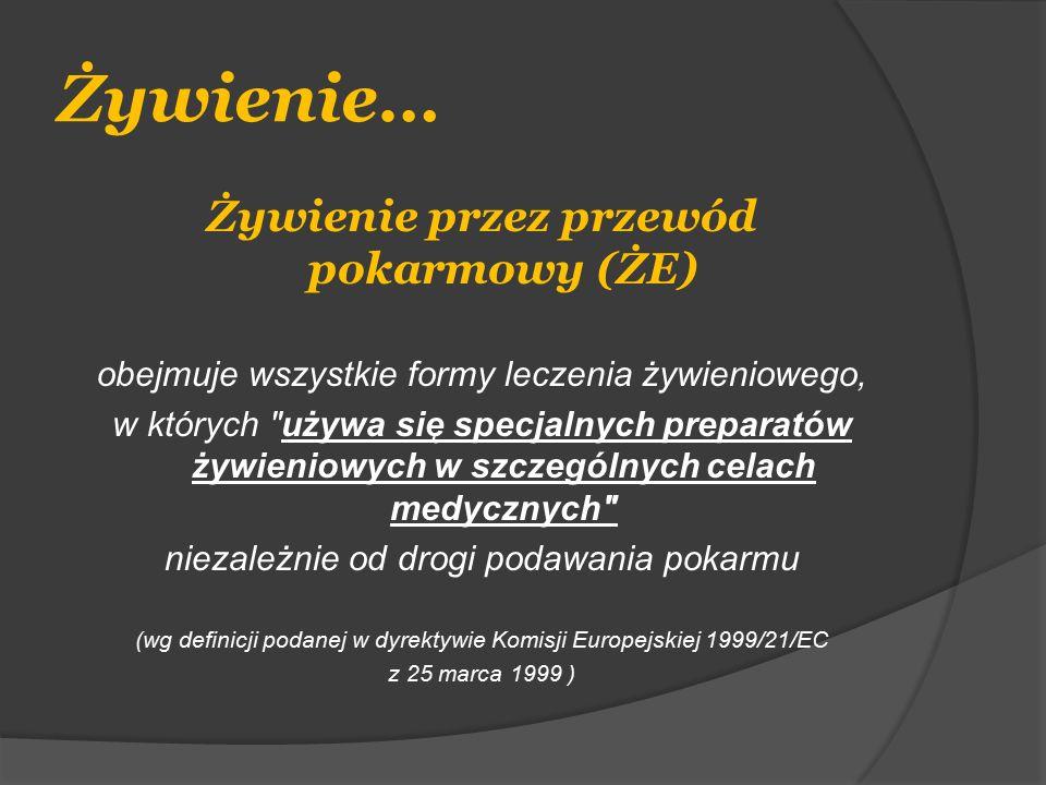 Plan podawania diety w pierwszej dobie żywienia do żołądka Godzina8-1212-1414-1515-1919-2121-2222-11-77-8 Szybkość podaży 50 ml/h PKz80 ml/h PKz100 ml/h PKz Kalorycz- ność 1-1,5 Wartość energe- tyczna 200- 300 kcal 320- 480 kcal 300- 450 kcal P – przerwa Kz – kontrola zalegania