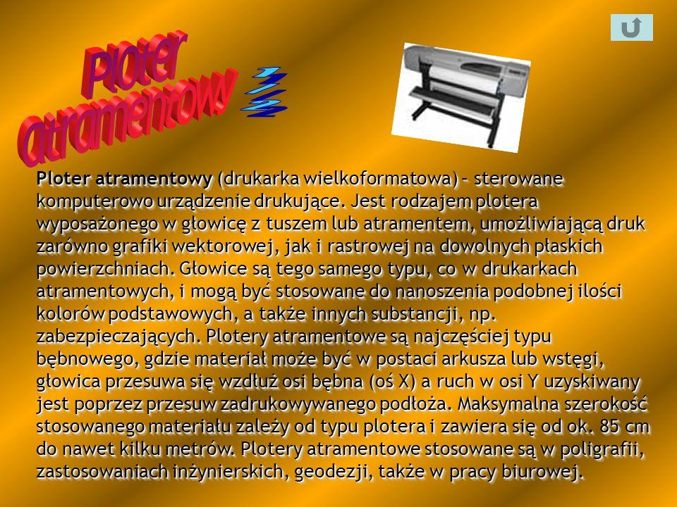 Ploter atramentowy (drukarka wielkoformatowa) – sterowane komputerowo urządzenie drukujące. Jest rodzajem plotera wyposażonego w głowicę z tuszem lub