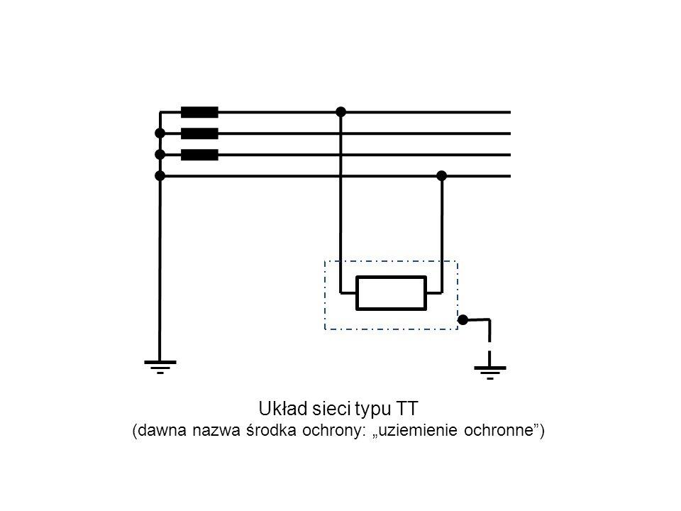 """Układ sieci typu TT (dawna nazwa środka ochrony: """"uziemienie ochronne )"""