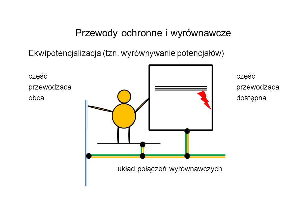 Przewody ochronne i wyrównawcze Ekwipotencjalizacja (tzn.
