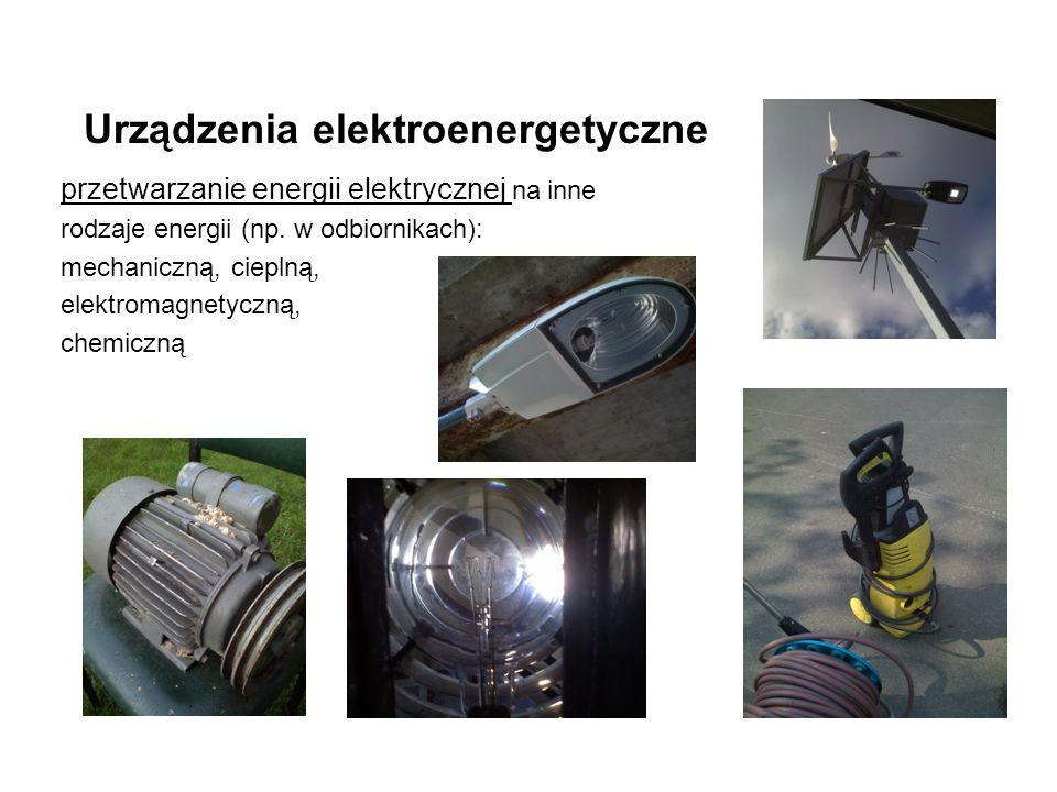 Urządzenia elektroenergetyczne przetwarzanie energii elektrycznej na inne rodzaje energii (np.