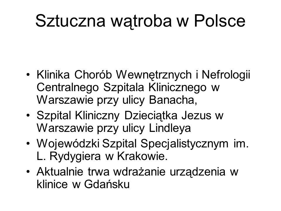 Sztuczna wątroba w Polsce Klinika Chorób Wewnętrznych i Nefrologii Centralnego Szpitala Klinicznego w Warszawie przy ulicy Banacha, Szpital Kliniczny