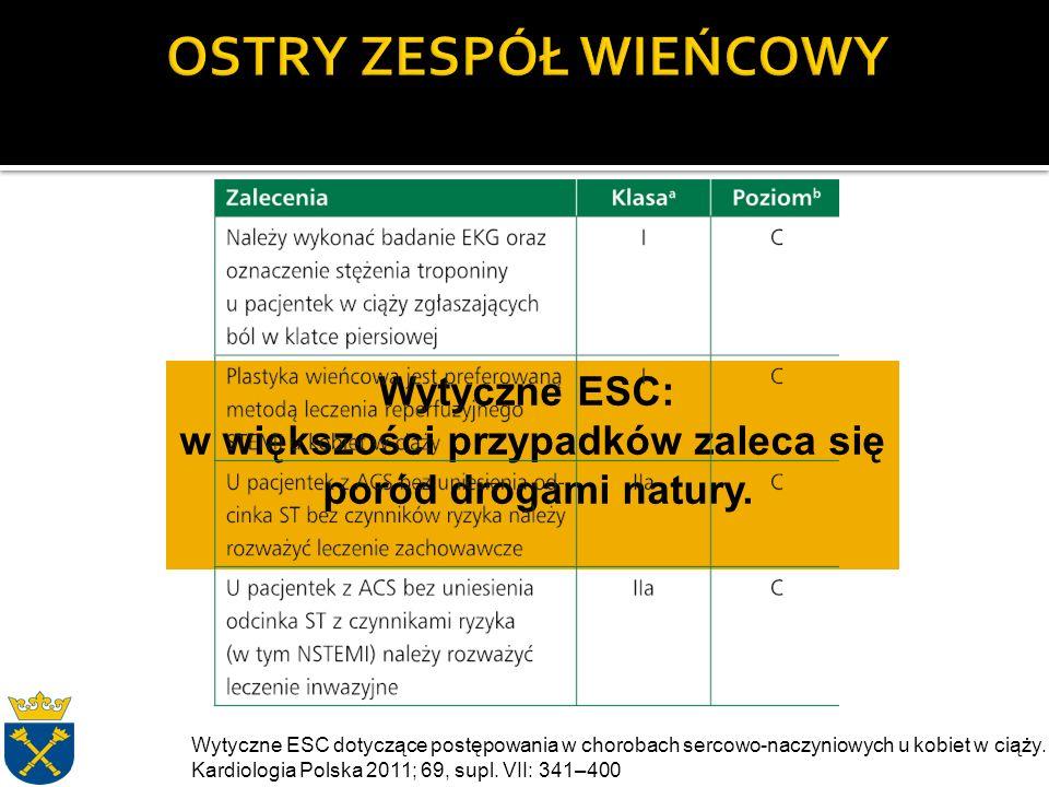 Wytyczne ESC: w większości przypadków zaleca się poród drogami natury.