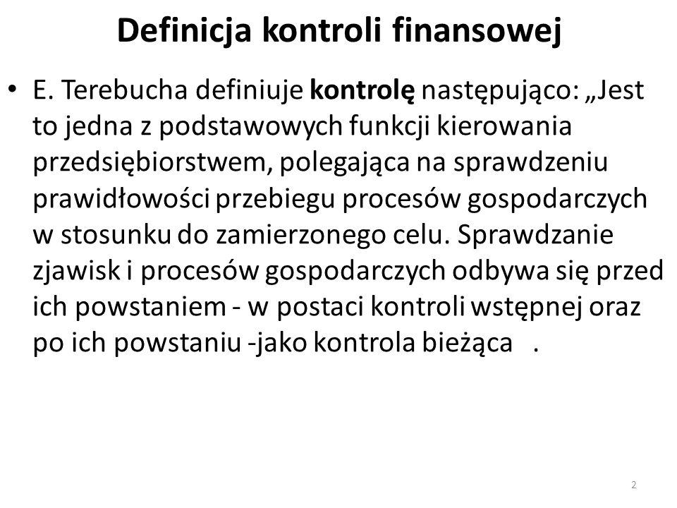 Definicja kontroli finansowej E.