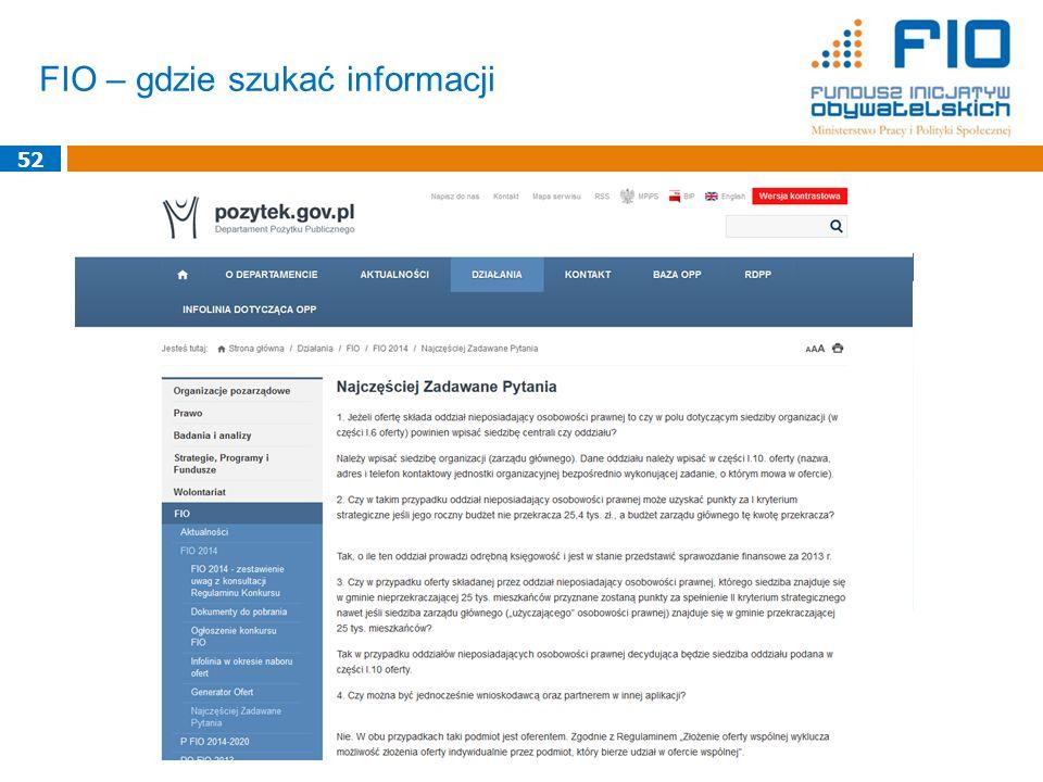 FIO – gdzie szukać informacji 52