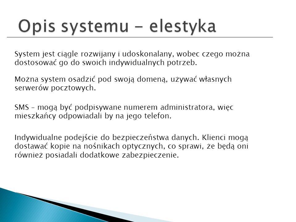 System jest ciągle rozwijany i udoskonalany, wobec czego można dostosować go do swoich indywidualnych potrzeb.