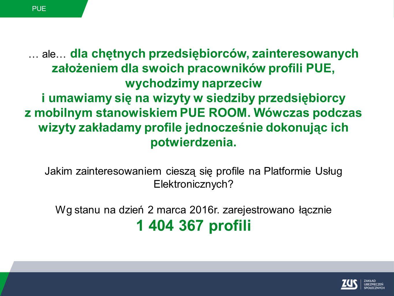 PUE Profil płatnika Przedsiębiorca będący płatnikiem składek, po zalogowaniu się na swój profil PUE uzyskuje dostęp do szczegółowych informacji zgromadzonych na koncie płatnika.