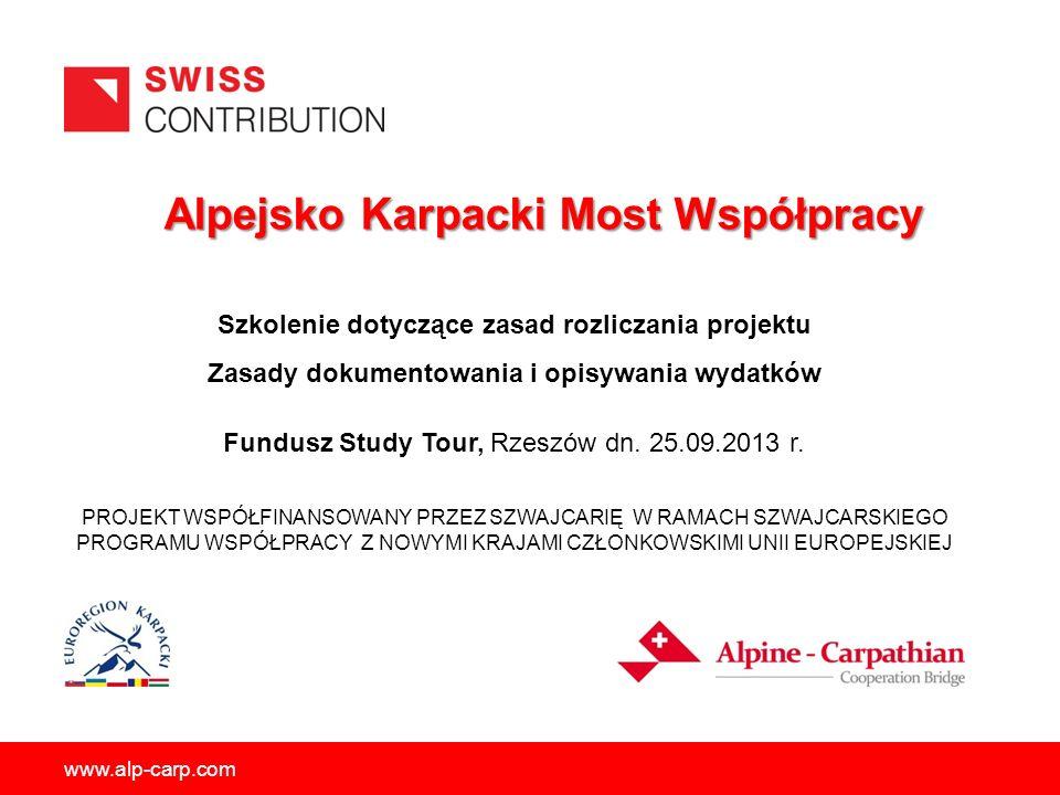Alpejsko Karpacki Most Współpracy Alpejsko Karpacki Most Współpracy PROJEKT WSPÓŁFINANSOWANY PRZEZ SZWAJCARIĘ W RAMACH SZWAJCARSKIEGO PROGRAMU WSPÓŁPR