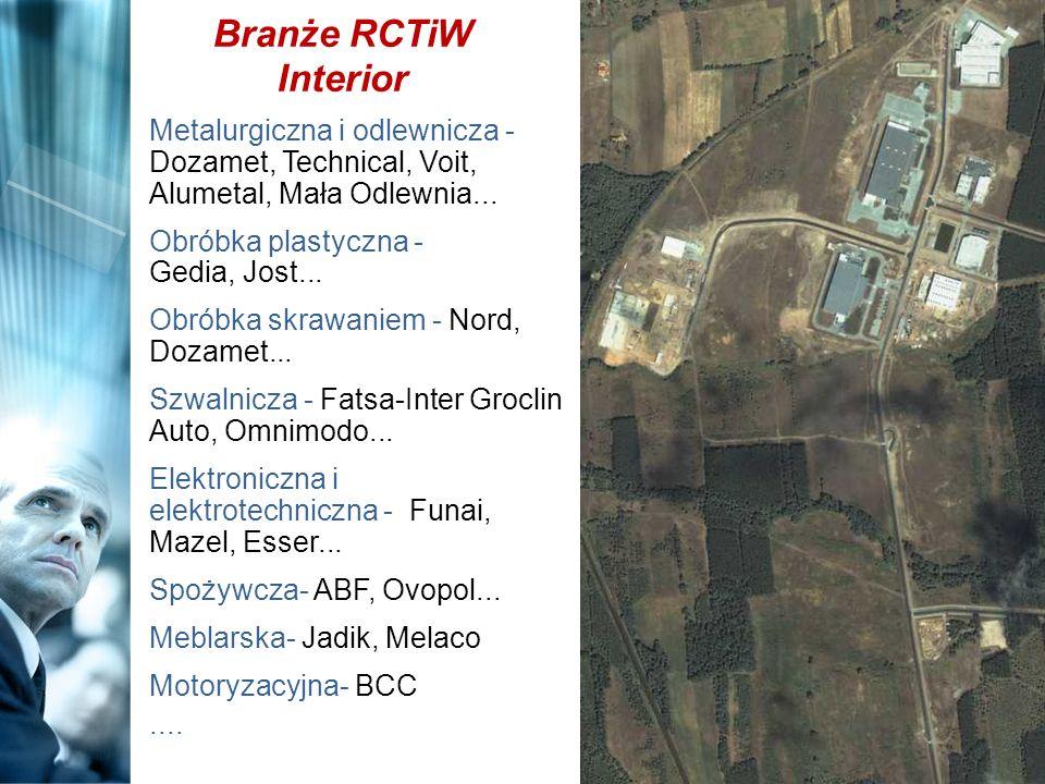 Branże RCTiW Interior Metalurgiczna i odlewnicza - Dozamet, Technical, Voit, Alumetal, Mała Odlewnia... Obróbka plastyczna - Gedia, Jost... Obróbka sk