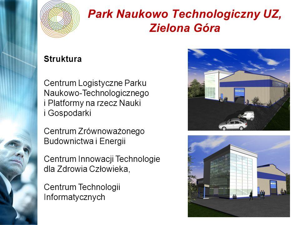 Park Naukowo Technologiczny UZ, Zielona Góra Struktura Centrum Logistyczne Parku Naukowo-Technologicznego i Platformy na rzecz Nauki i Gospodarki Cent
