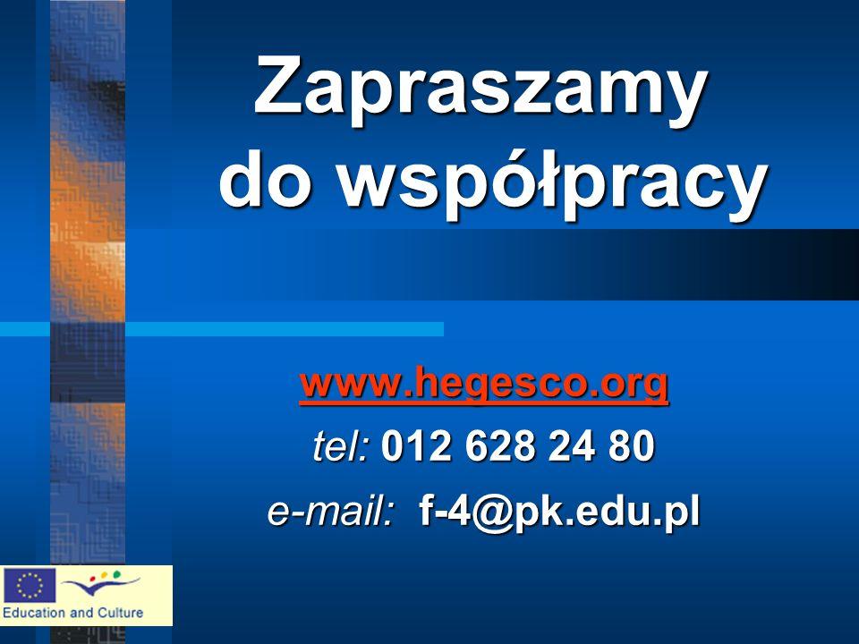 www.hegesco.org www.hegesco.org tel: 012 628 24 80 e-mail: f-4@pk.edu.pl www.hegesco.org Zapraszamy do współpracy