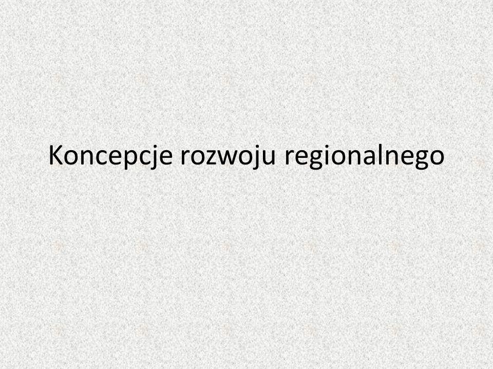 Koncepcje rozwoju regionalnego