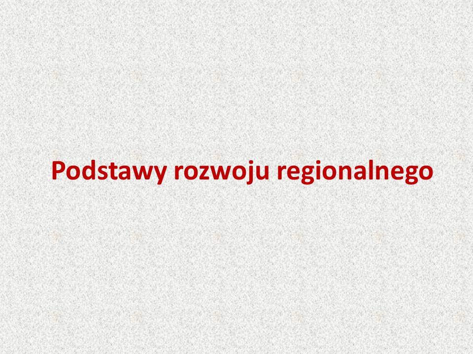 Podstawy rozwoju regionalnego