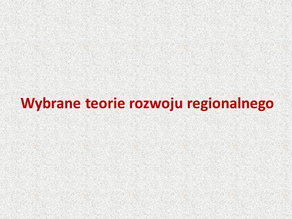 Wybrane teorie rozwoju regionalnego
