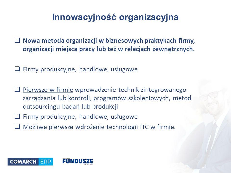  Nowa metoda organizacji w biznesowych praktykach firmy, organizacji miejsca pracy lub też w relacjach zewnętrznych.