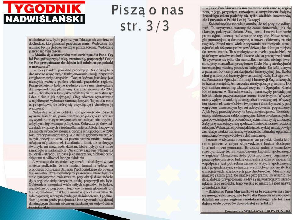Piszą o nas str. 3/3 Piszą o nas str. 3/3