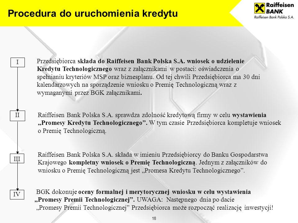 18 Przedsiębiorca składa do Raiffeisen Bank Polska S.A.