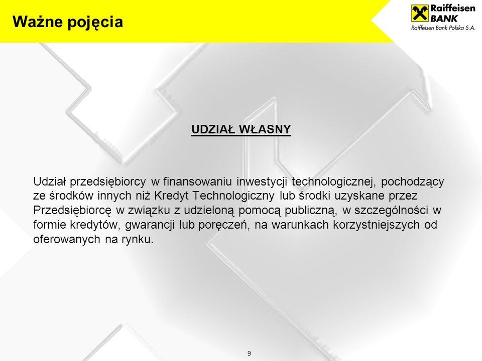 20 Wniosek o Kredyt Technologiczny w Raiffeisen Bank Polska S.A.
