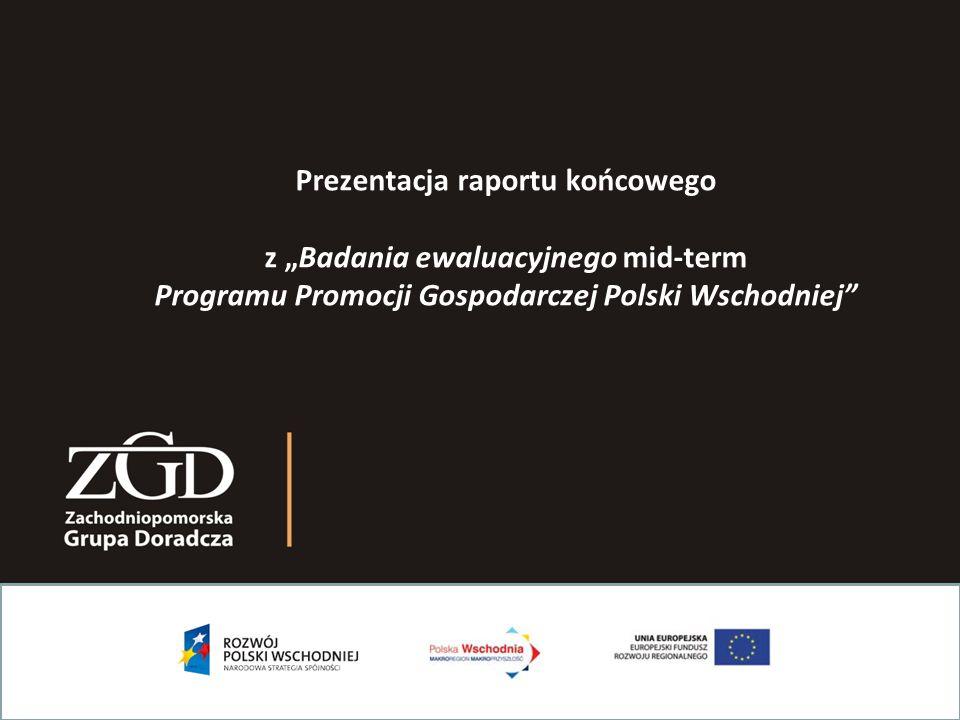 """Prezentacja raportu końcowego z """"Badania ewaluacyjnego mid-term Programu Promocji Gospodarczej Polski Wschodniej"""