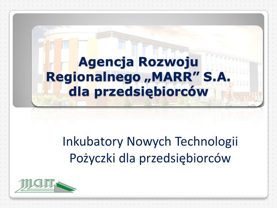 """Agencja Rozwoju Regionalnego """"MARR S.A."""