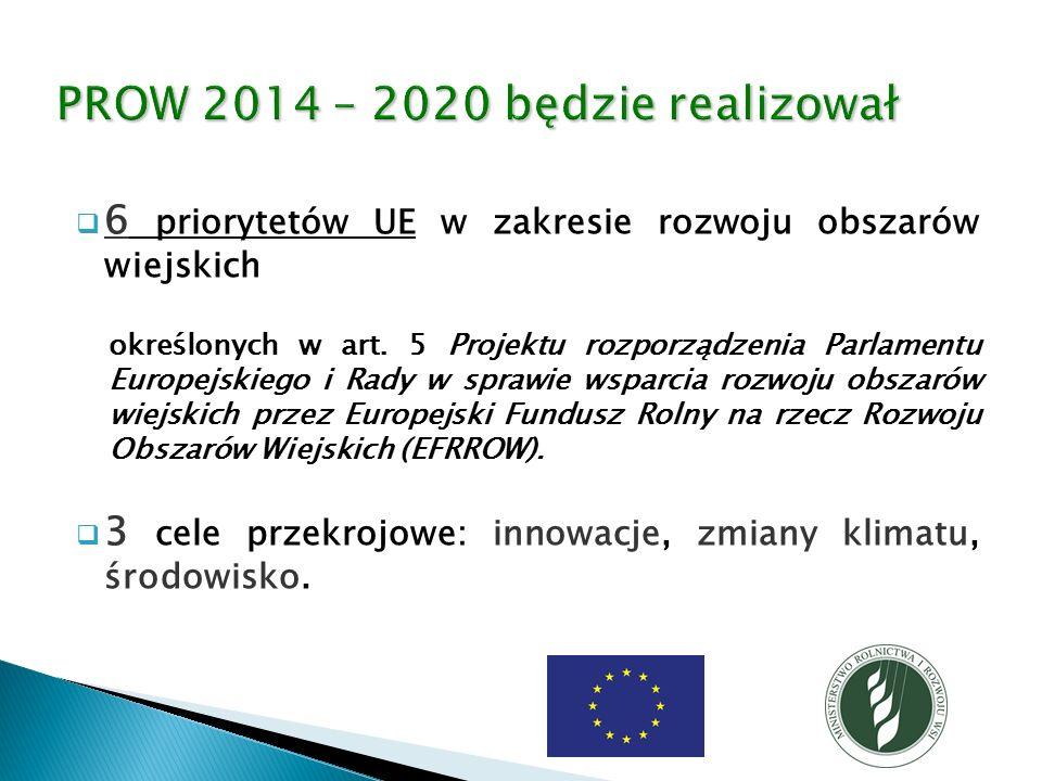  6 priorytetów UE w zakresie rozwoju obszarów wiejskich określonych w art.