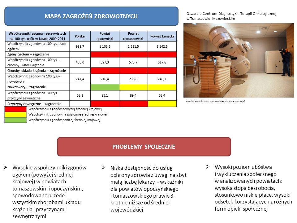 KONCENTRACJA PODMIOTÓW GOSPODARCZYCH Na analizowanym obszarze zauważalna jest koncentracja podmiotów zajmujących się produkcją z pozostałych mineralnych wyrobów niemetalicznych (C23), wyższa blisko dwukrotnie od poziomu krajowego