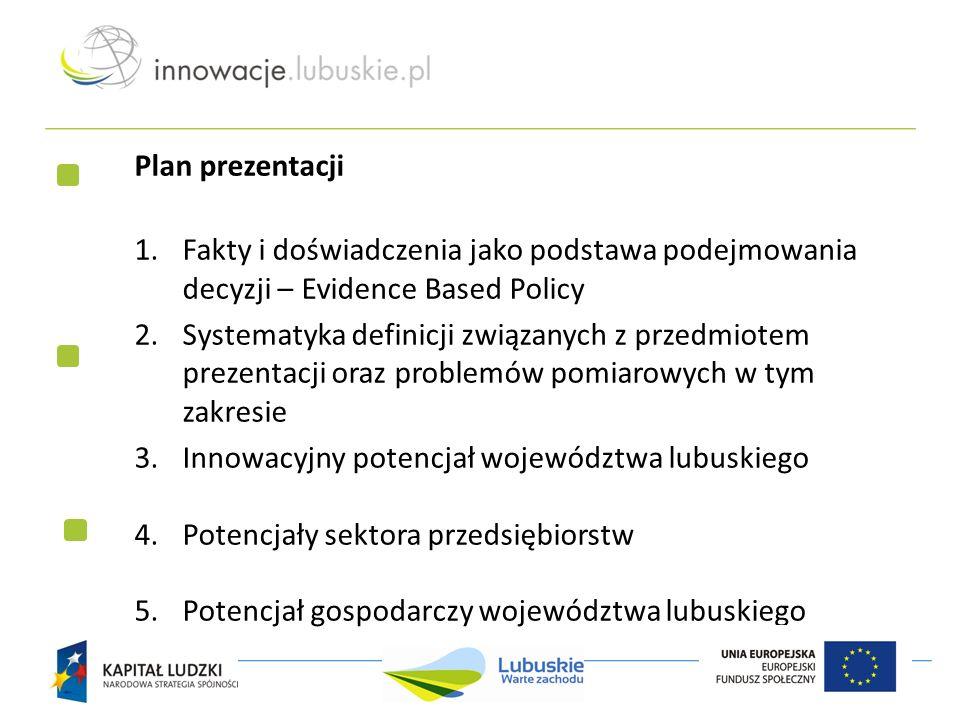 Plan prezentacji 1.Fakty i doświadczenia jako podstawa podejmowania decyzji – Evidence Based Policy 2.Systematyka definicji związanych z przedmiotem p