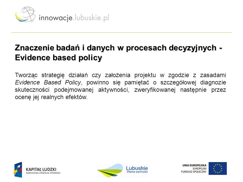 Tworząc strategię działań czy założenia projektu w zgodzie z zasadami Evidence Based Policy, powinno się pamiętać o szczegółowej diagnozie skutecznośc