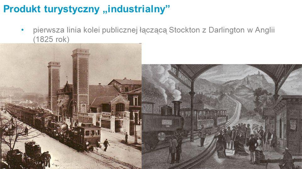 """Produkt turystyczny """"industrialny pierwsza linia kolei publicznej łączącą Stockton z Darlington w Anglii (1825 rok)"""