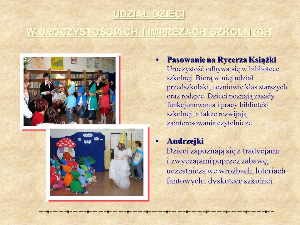 Pasowanie na Rycerza KsiążkiPasowanie na Rycerza Książki Uroczystość odbywa się w bibliotece szkolnej.