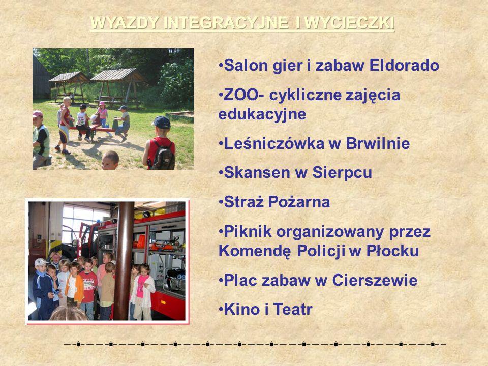 Salon gier i zabaw Eldorado ZOO- cykliczne zajęcia edukacyjne Leśniczówka w Brwilnie Skansen w Sierpcu Straż Pożarna Piknik organizowany przez Komendę Policji w Płocku Plac zabaw w Cierszewie Kino i Teatr