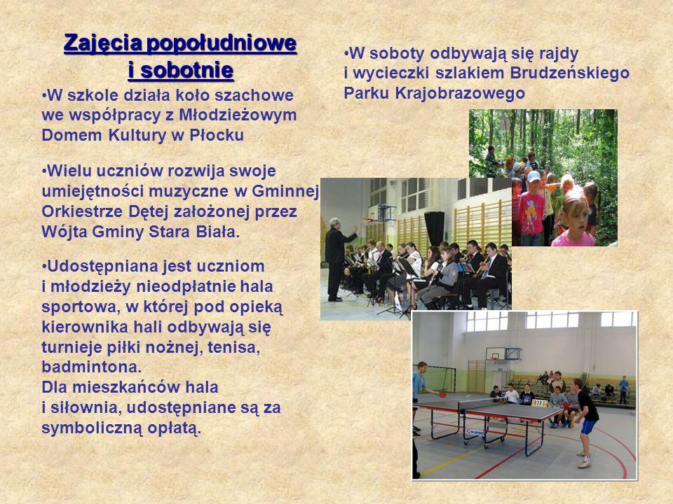 W szkole działa koło szachowe we współpracy z Młodzieżowym Domem Kultury w Płocku W soboty odbywają się rajdy i wycieczki szlakiem Brudzeńskiego Parku Krajobrazowego Udostępniana jest uczniom i młodzieży nieodpłatnie hala sportowa, w której pod opieką kierownika hali odbywają się turnieje piłki nożnej, tenisa, badmintona.