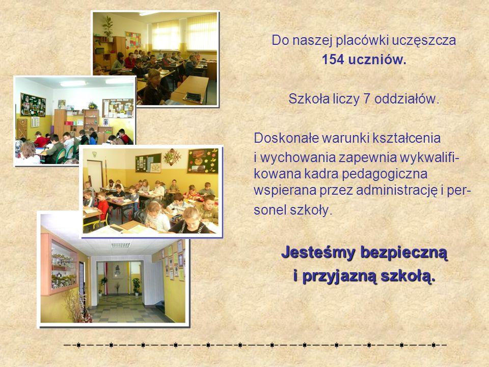 Do naszej placówki uczęszcza 154 uczniów.Szkoła liczy 7 oddziałów.