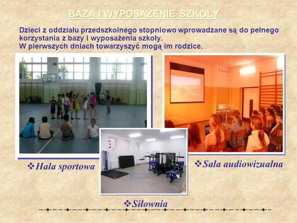 Dzieci z oddziału przedszkolnego stopniowo wprowadzane są do pełnego korzystania z bazy i wyposażenia szkoły.