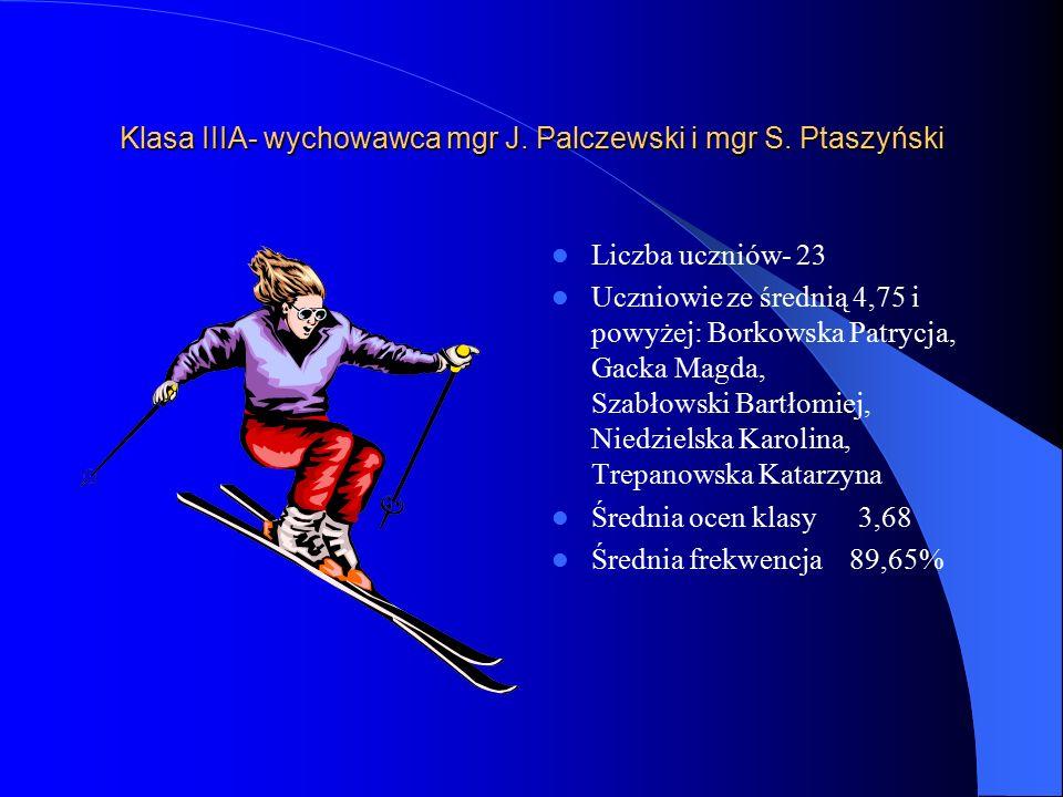 Klasa IIIA- wychowawca mgr J. Palczewski i mgr S.
