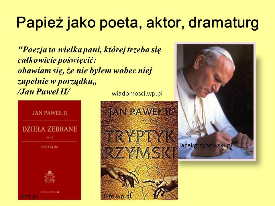 Papież jako poeta, aktor, dramaturg jacekgrzybowski.pl